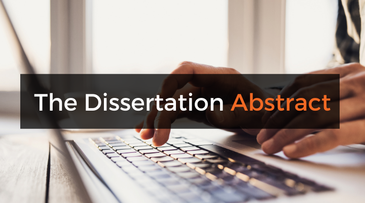 The dissertation and thesis abstract