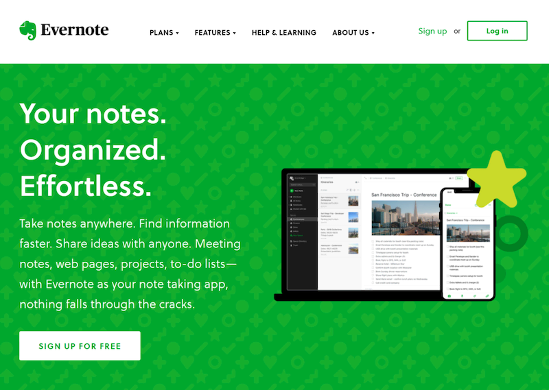 Evernote app for taking notes during your thesis