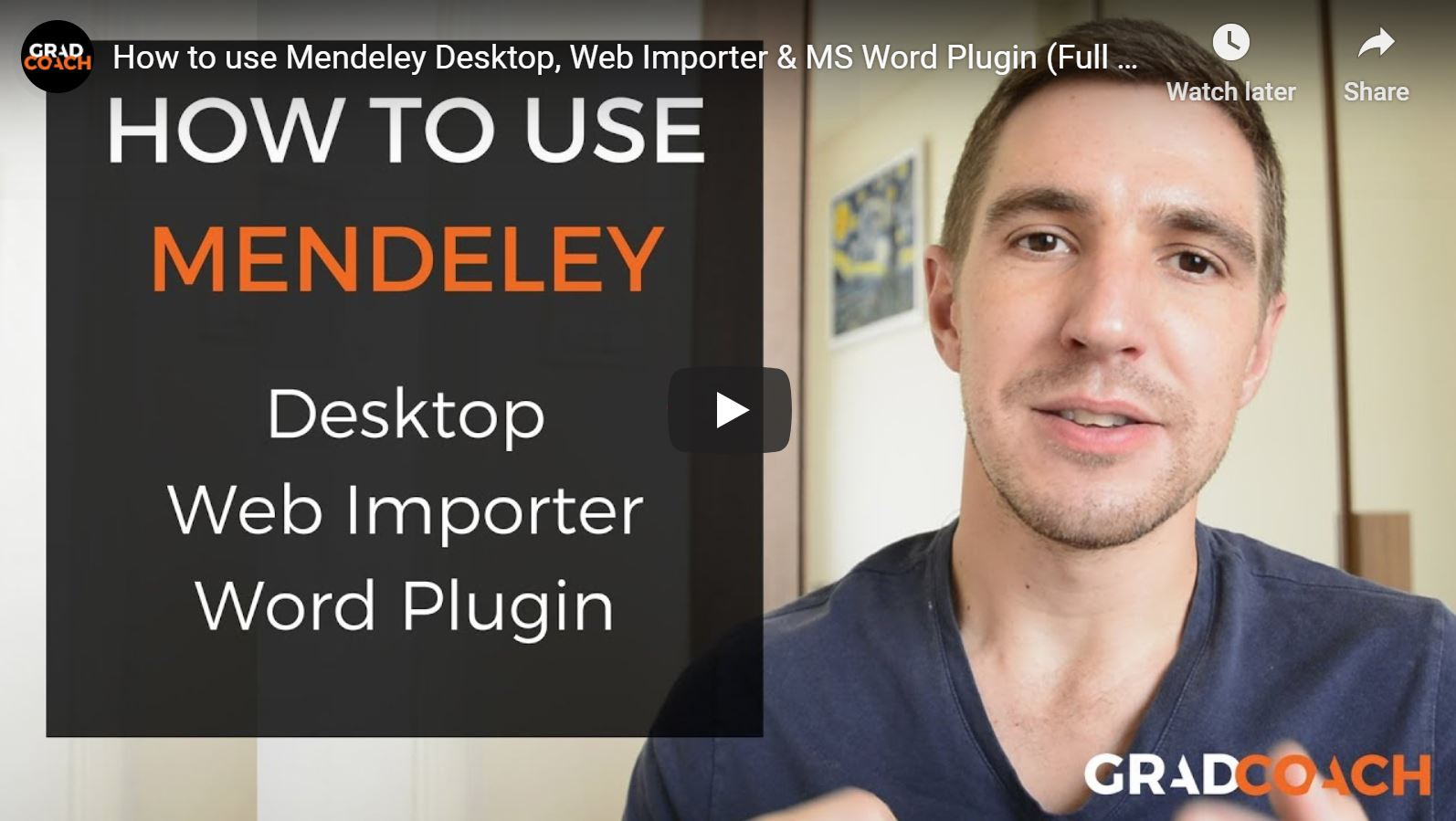 How To Use Mendeley Desktop, Web Importer & The MS Word plugin.