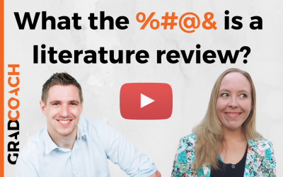 What (Exactly) Is A Literature Review?