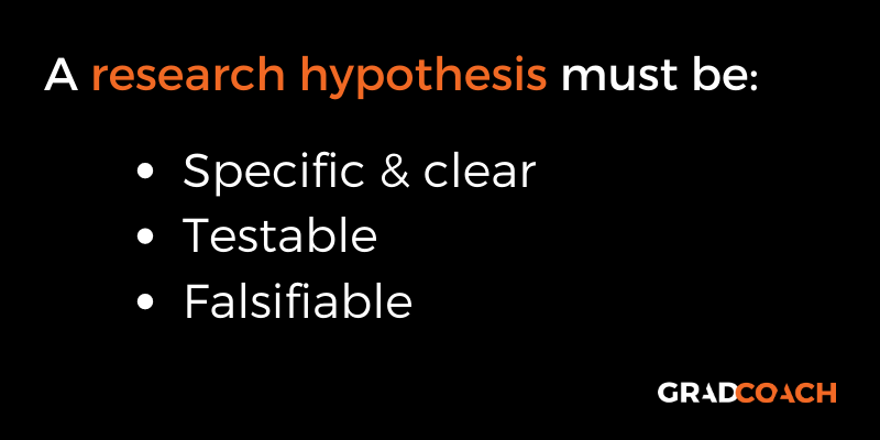 Essential attributes of a research hypothesis