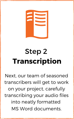 Transcription process - transcribe
